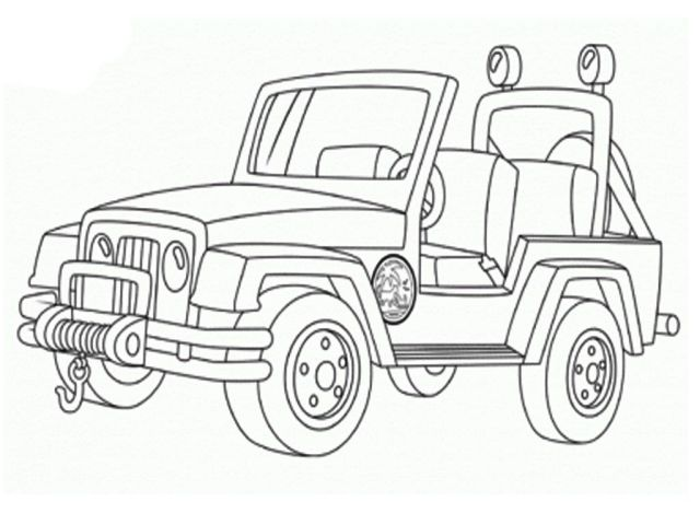 Free Military Jeep Coloring Pages, Download Free Military Jeep