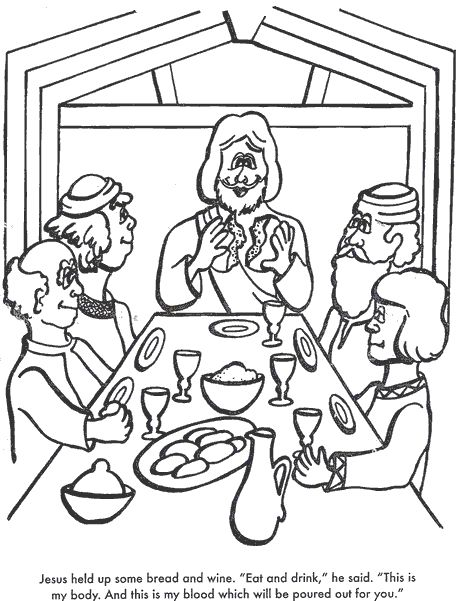 the last supper coloring page # 21