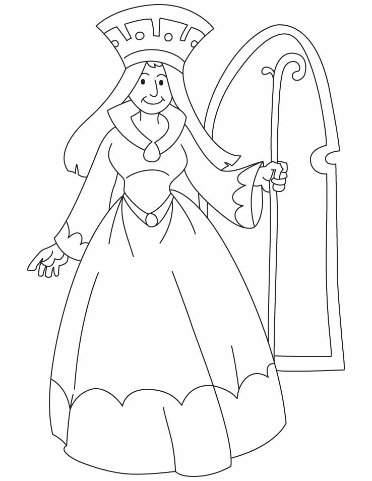 Free Queen Coloring Page Download Free Clip Art Free Clip Art On Clipart Library