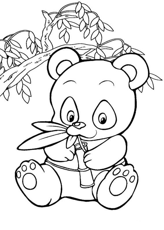 Panda Coloring Pages For Kids Clip Art Library