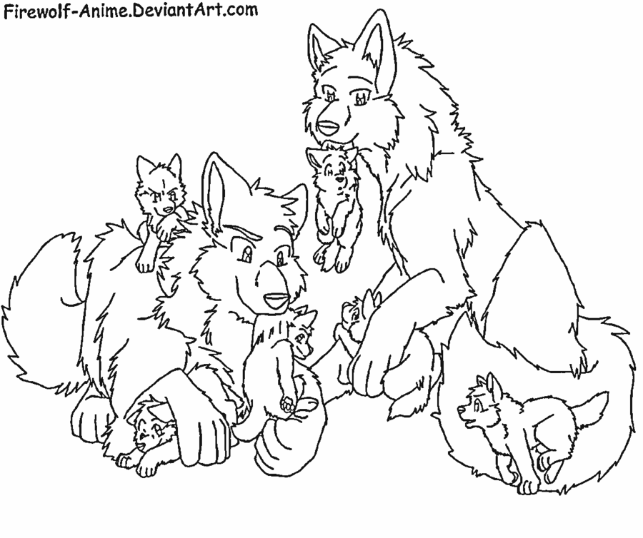 Free Anime Wolf Pack Coloring Pages Download Free Clip Art Free Clip Art On Clipart Library