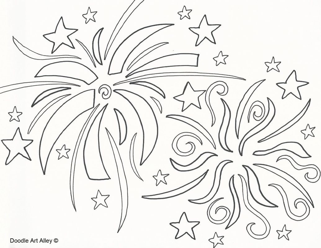Preschool Fireworks Coloring Pages Fireworks Coloring