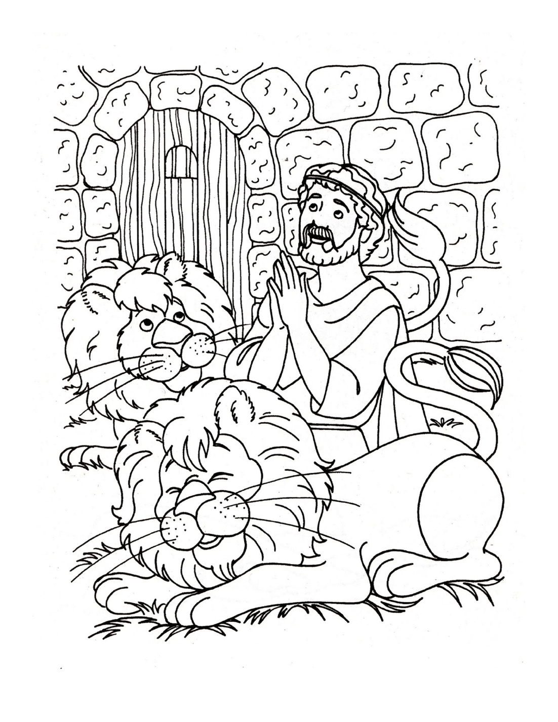 Daniel In The Lions Den Coloring Page Crafting The Word