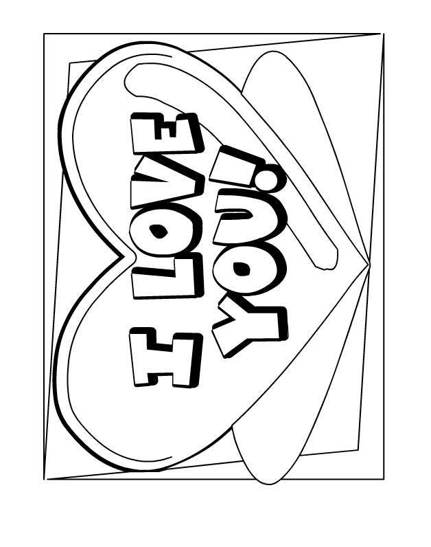 Free Coloring Pages That Say I Love You Download Free Clip Art Free Clip Art On Clipart Library