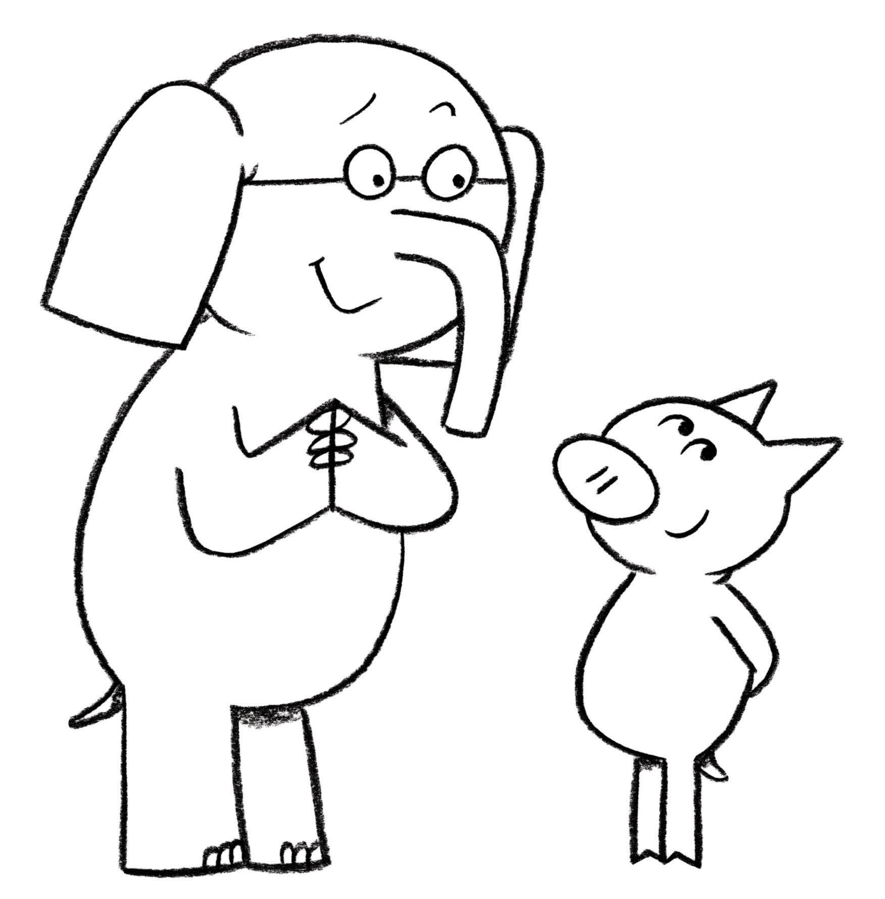 Printable Elephant And Piggie Coloring Pages