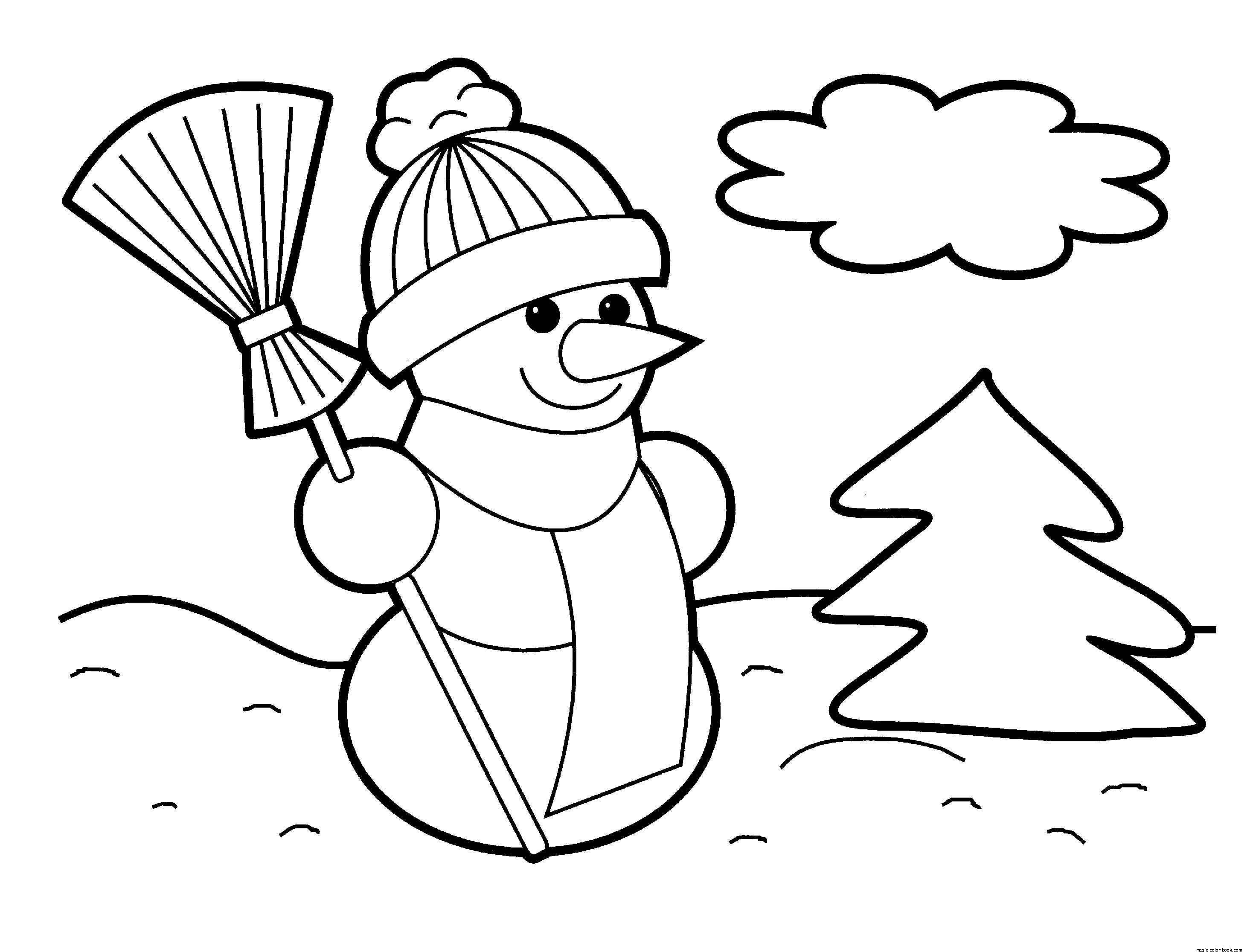 Winter Free Online Color Pages For Kids Magic Color Book