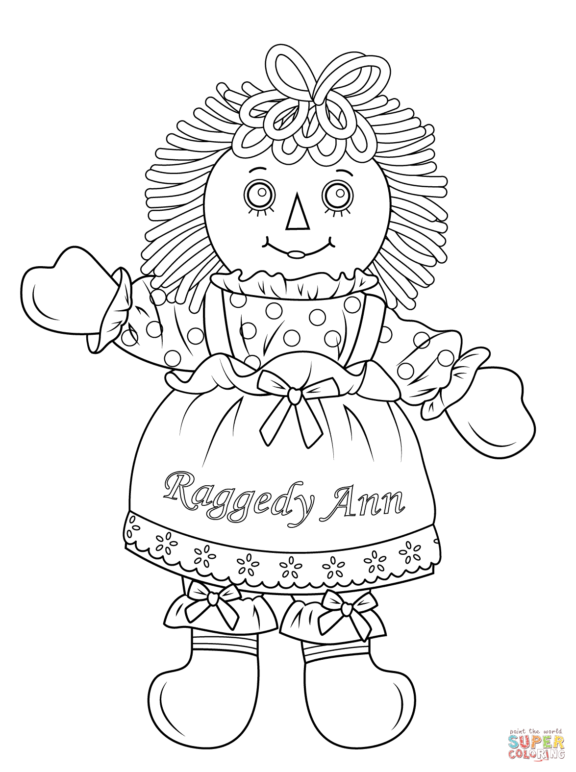 Cabbage Patch Doll Coloring Page