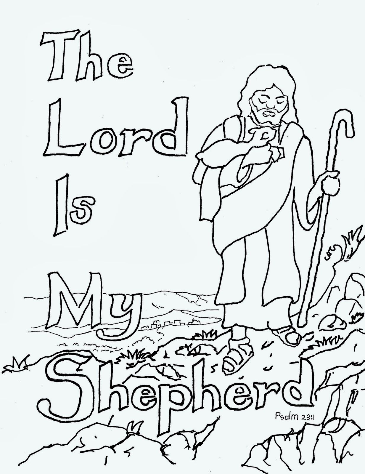Free The Lord Is My Shepherd Coloring Pages Download Free