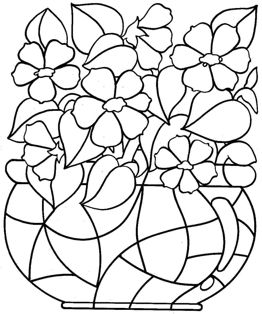 Free Free Printable Coloring Pages Of Flowers For Kids