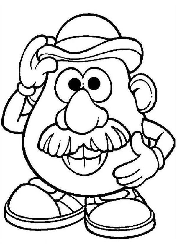 mr potato head coloring pages # 3