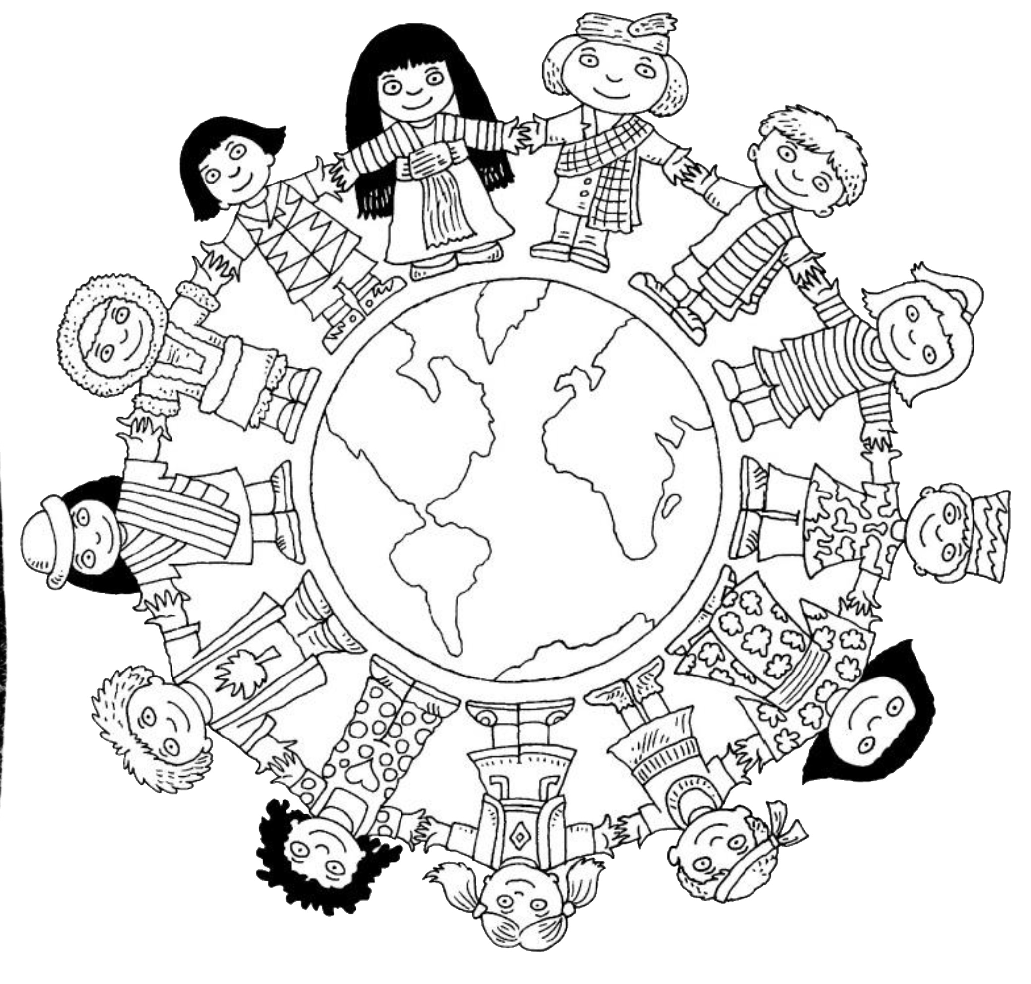 Multicultural Diversity Coloring Pages