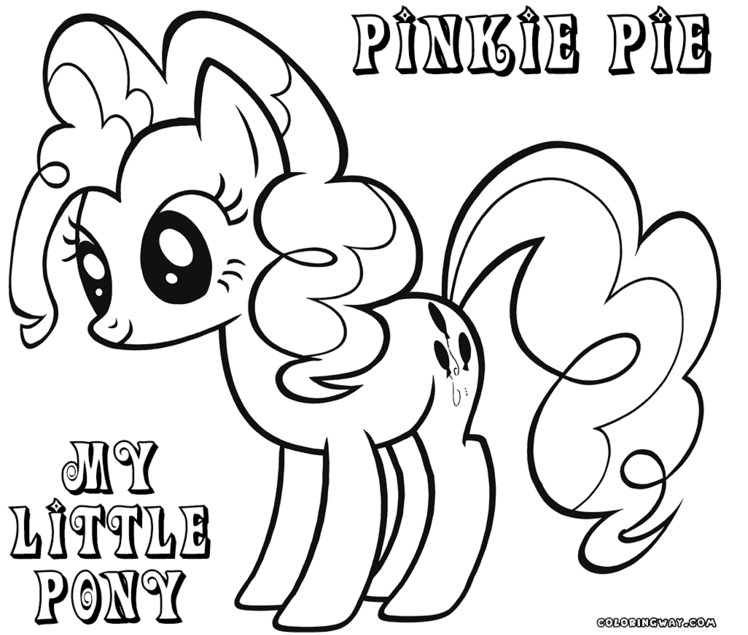 Pinky Pie Colouring Page Clip Art Library