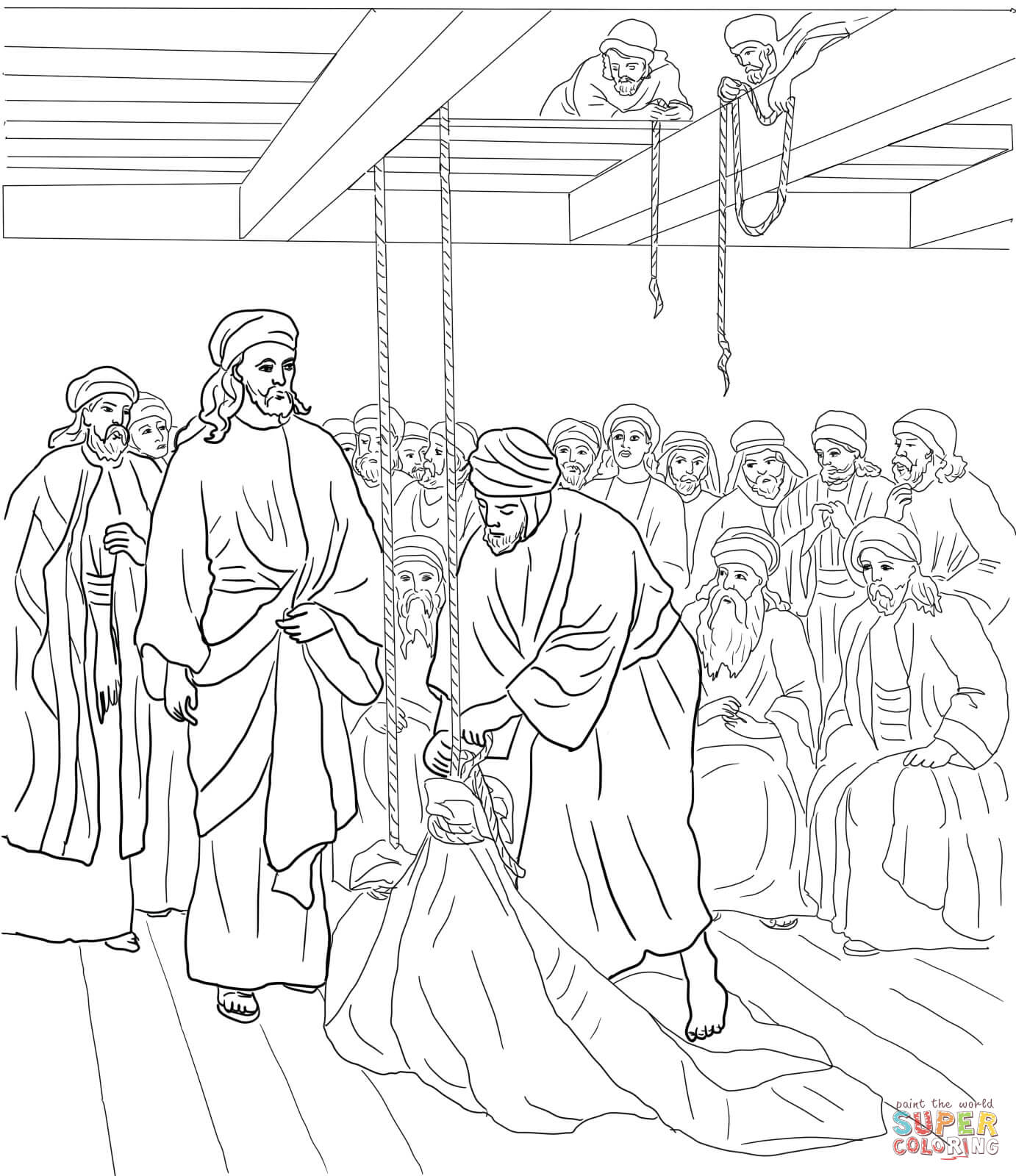 Free Jesus Heals A Man By The Pool Coloring Page Download