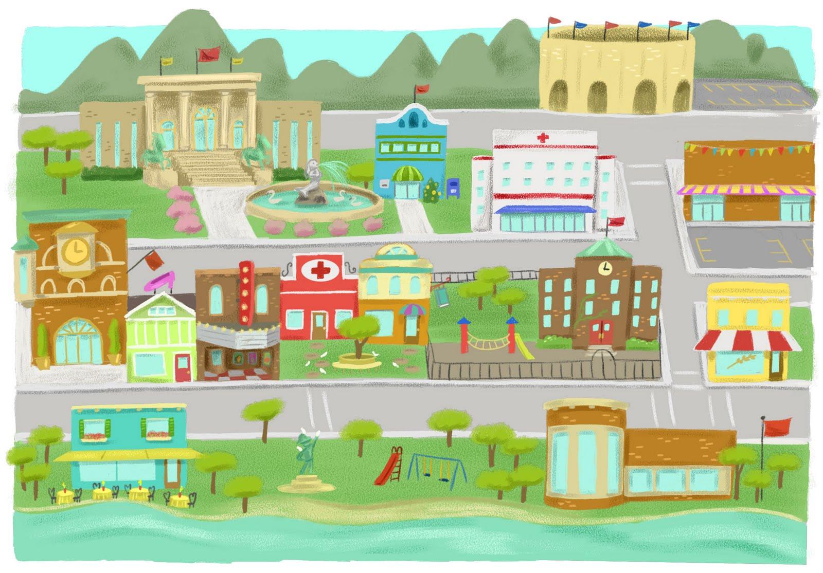 Community And Neighborhood Map Clipart
