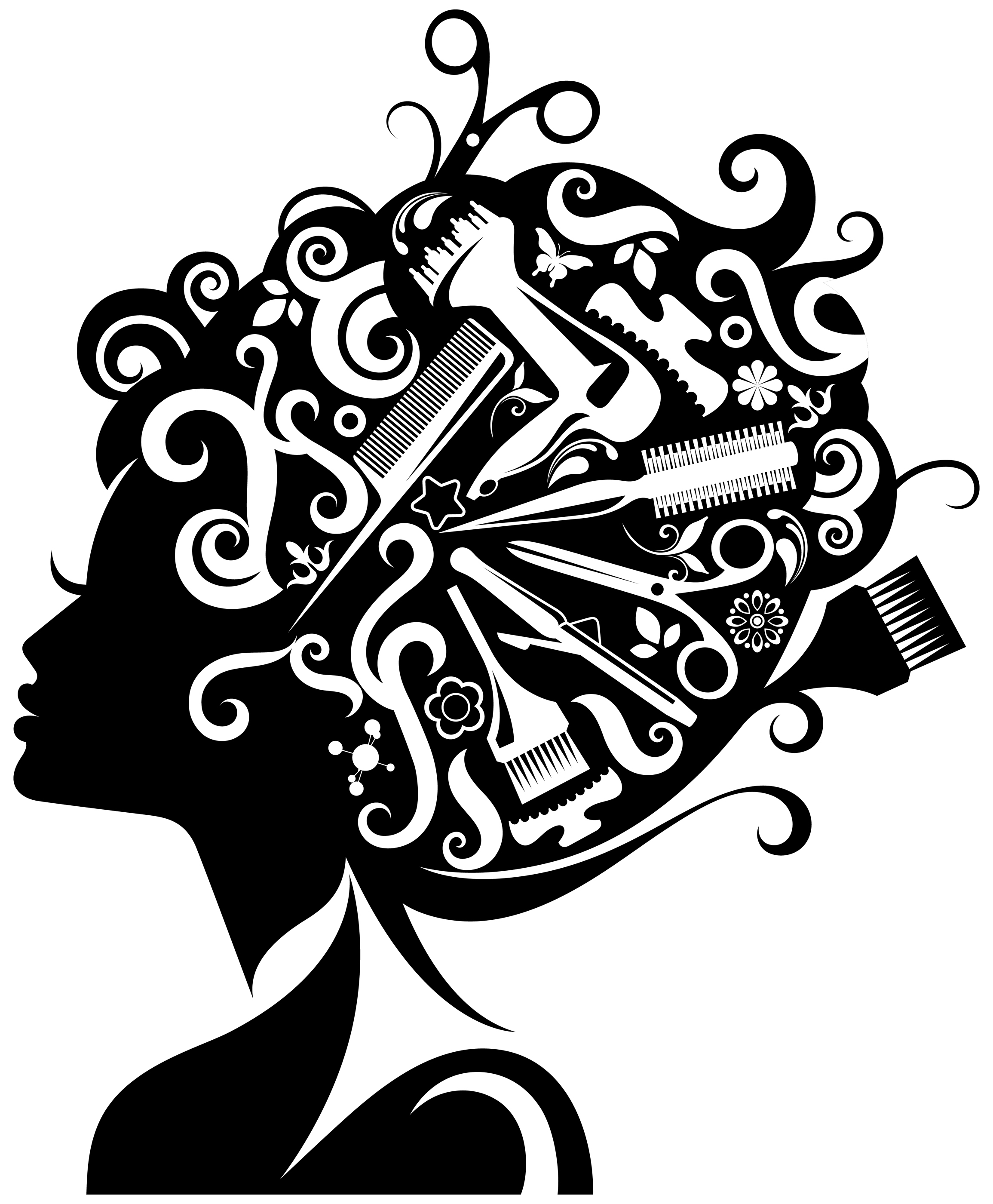 African Cartoon Beautician Pictures American