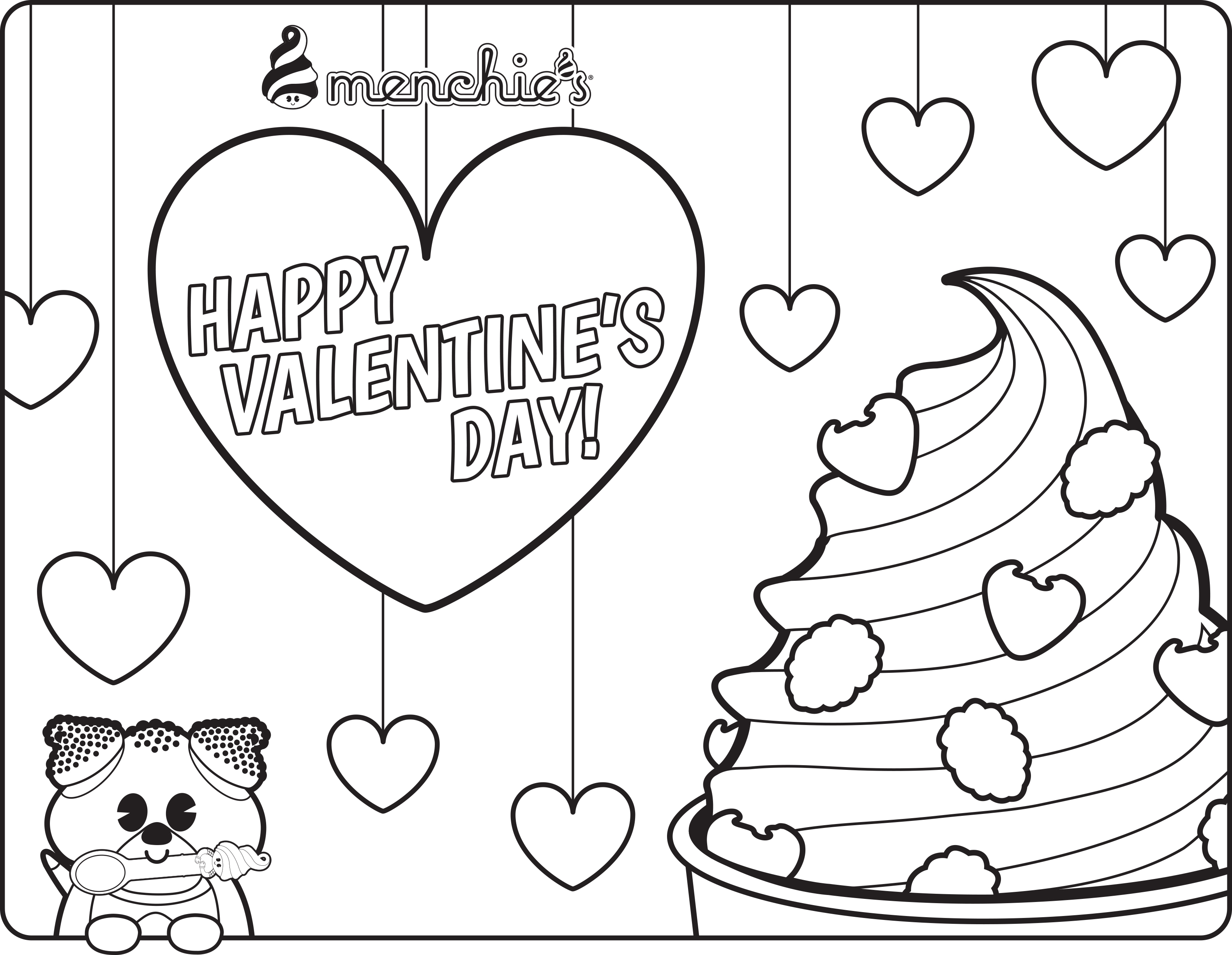 Free Frozen Yogurt Coloring Pages