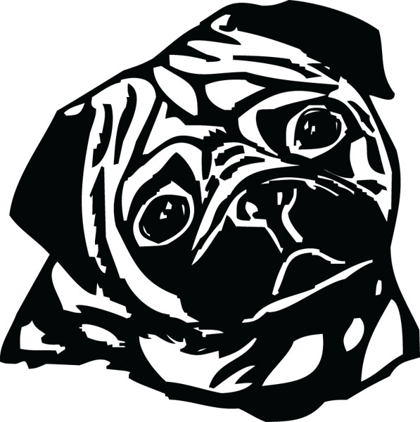 Free Pug Cliparts, Download Free Pug Cliparts png images ... (597 x 600 Pixel)