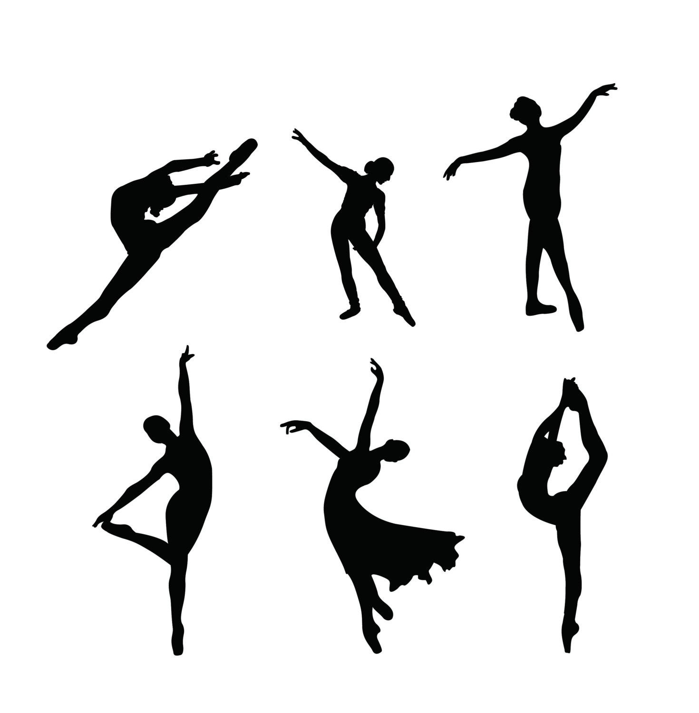 Ballet Silhouette Digital Clipart Vector Eps Files