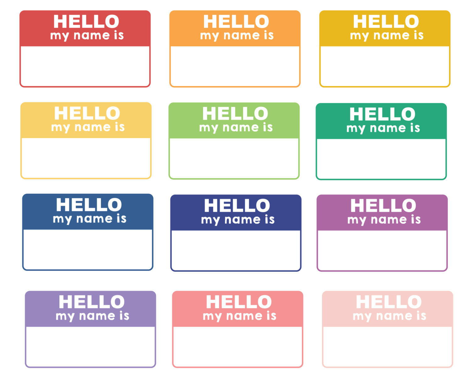 Name Tag Template Clip Art Library