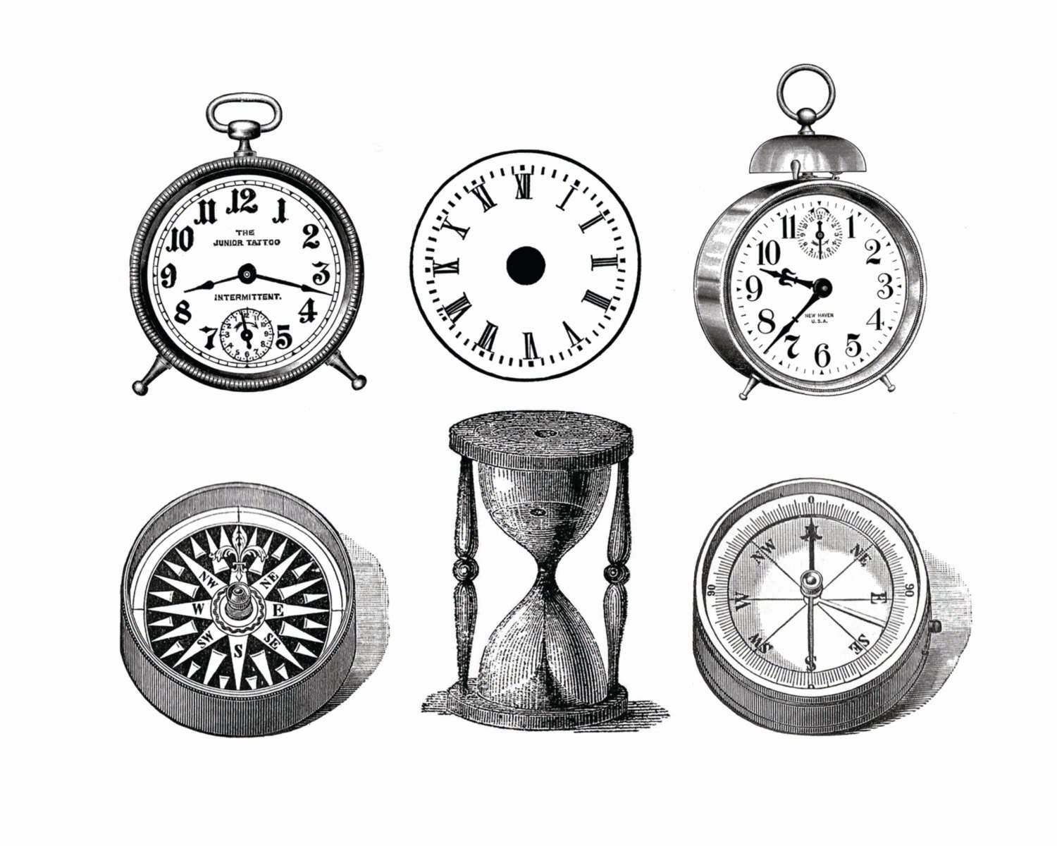 Home Office The Most Stylish Vintage Clocks Clipart