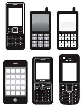 Image result for cellphone clipart black and white