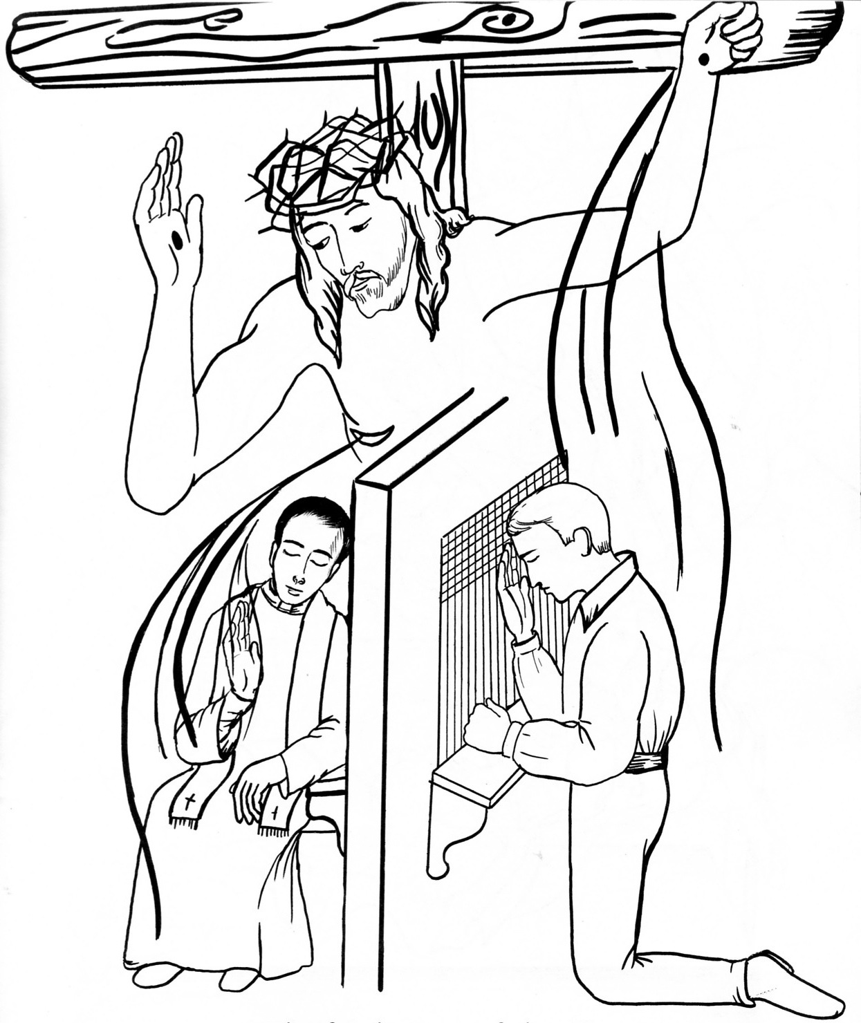 Sacraments Coloring Page