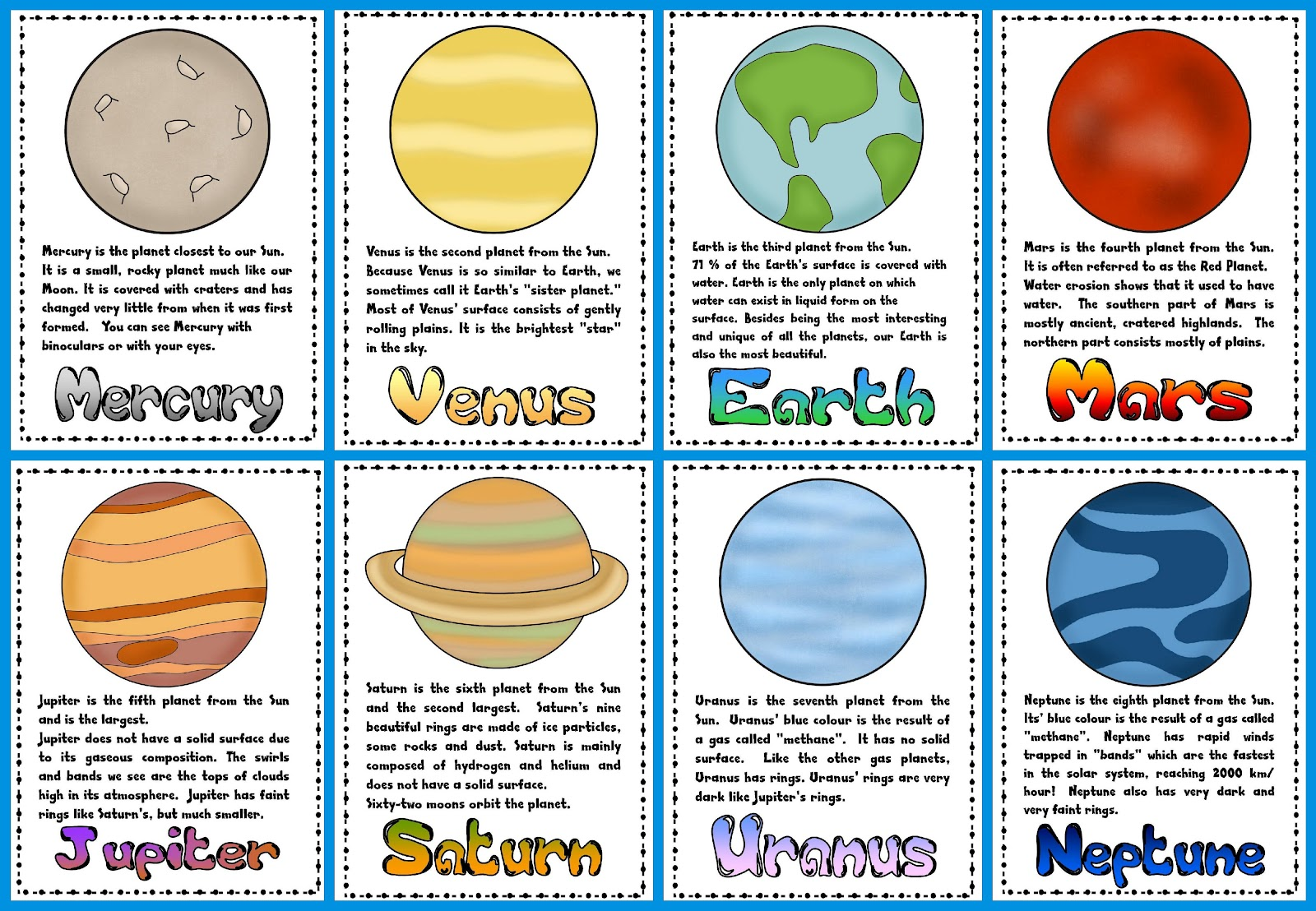 Planets In Order Clip Art Cliparts