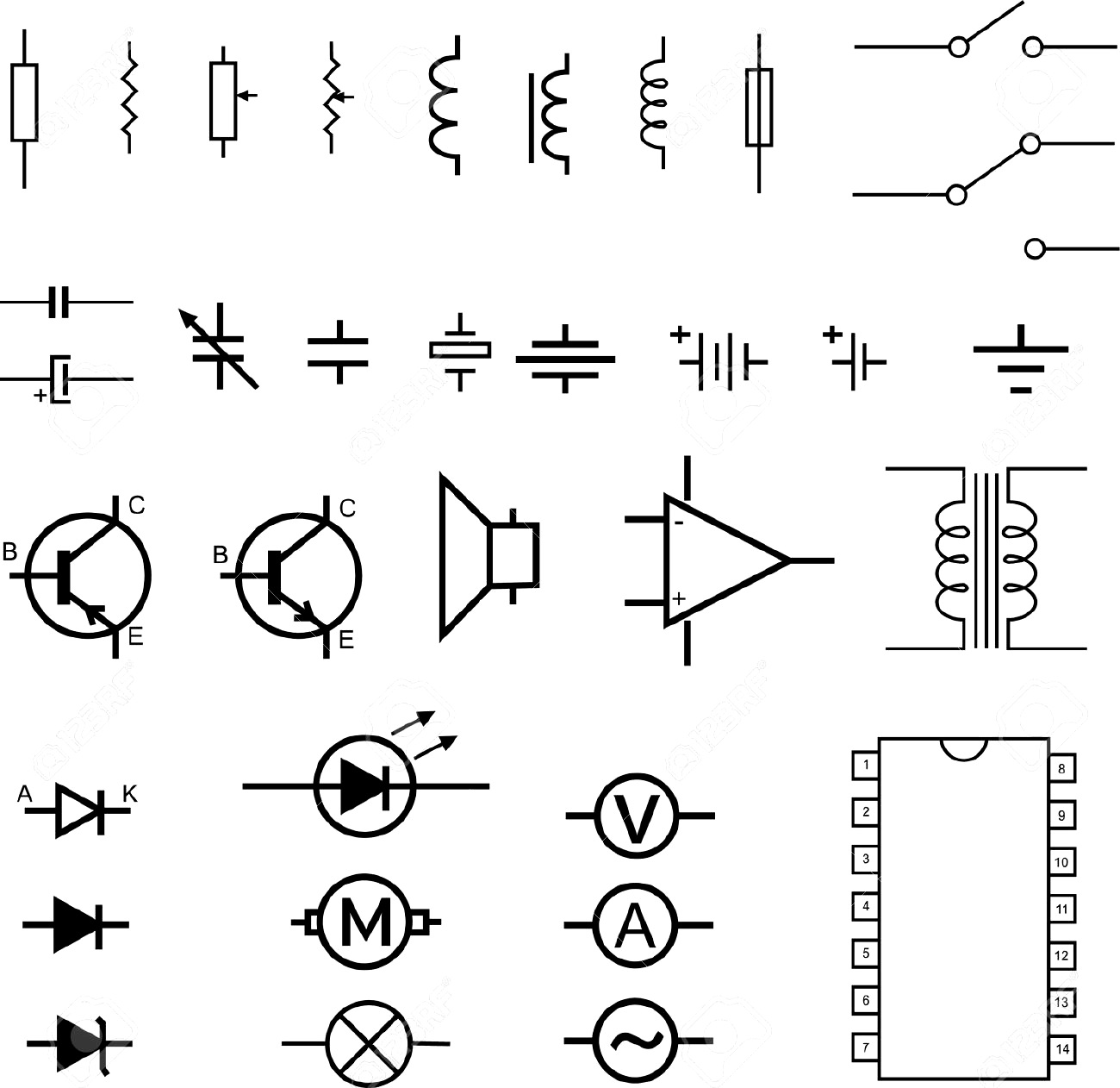 Free Electrical Symbol Cliparts Download Free Clip Art