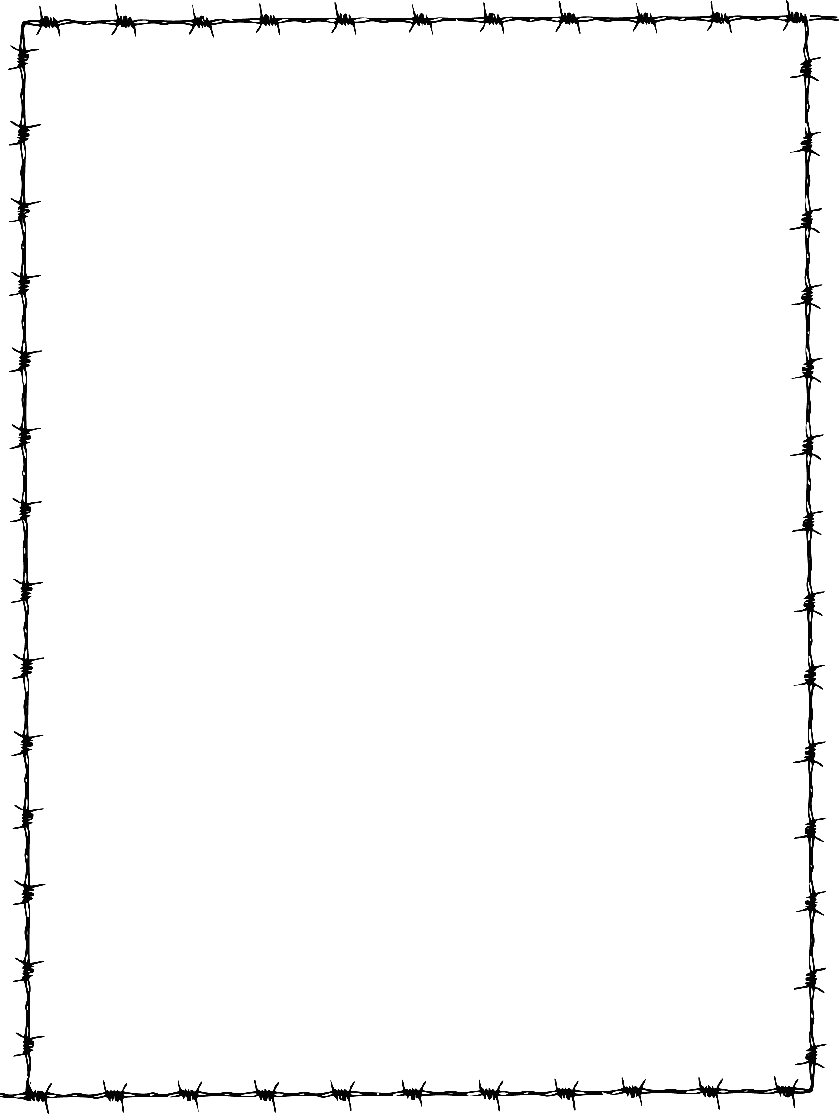Barbed Wire Border Clipart