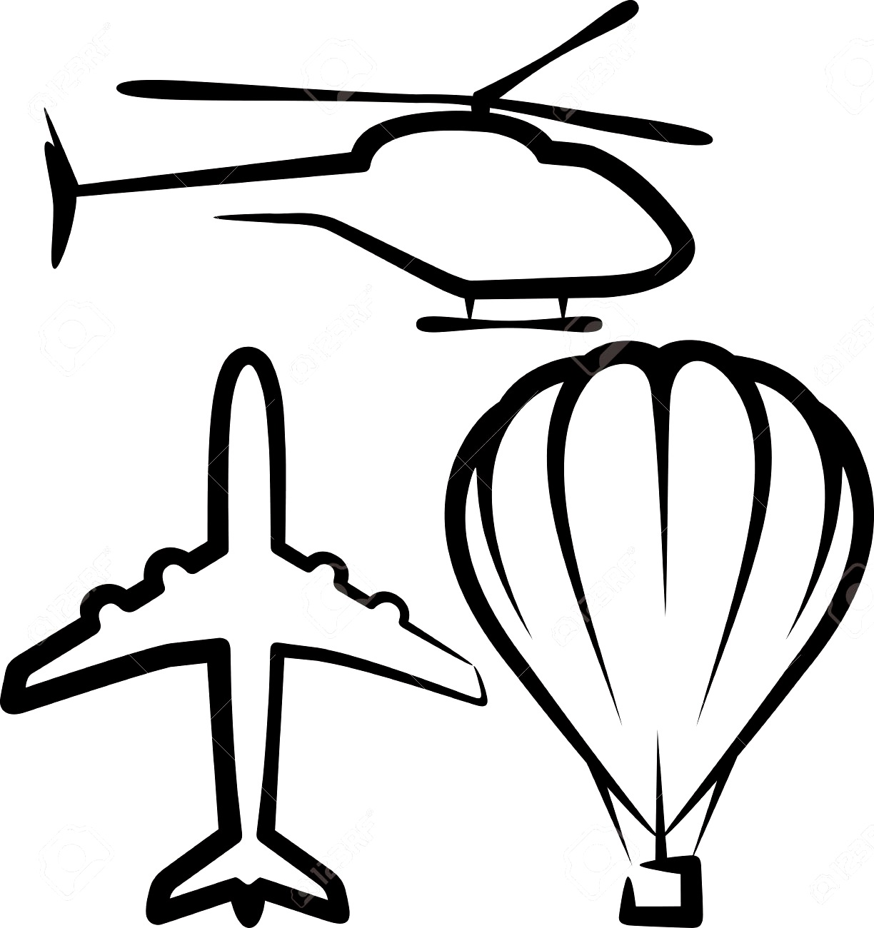 Simple Airplane Clipart