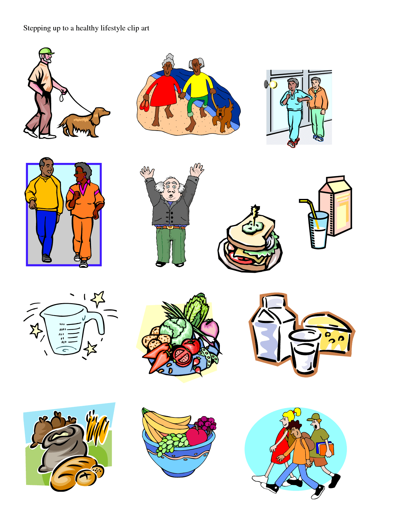 Living A Healthy Life Clip Art Cliparts