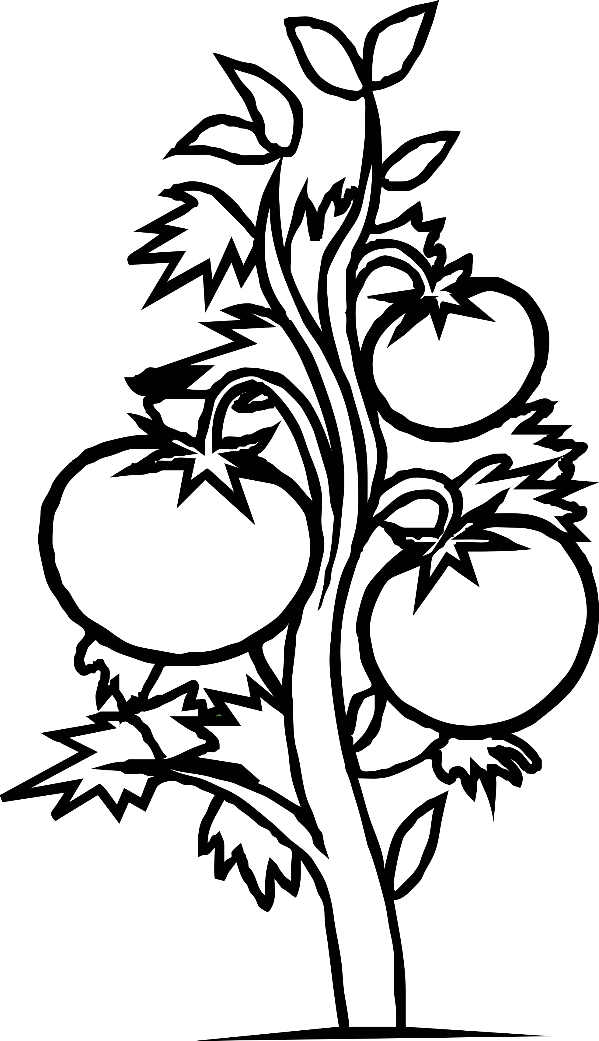 House Plant Clipart Black And White
