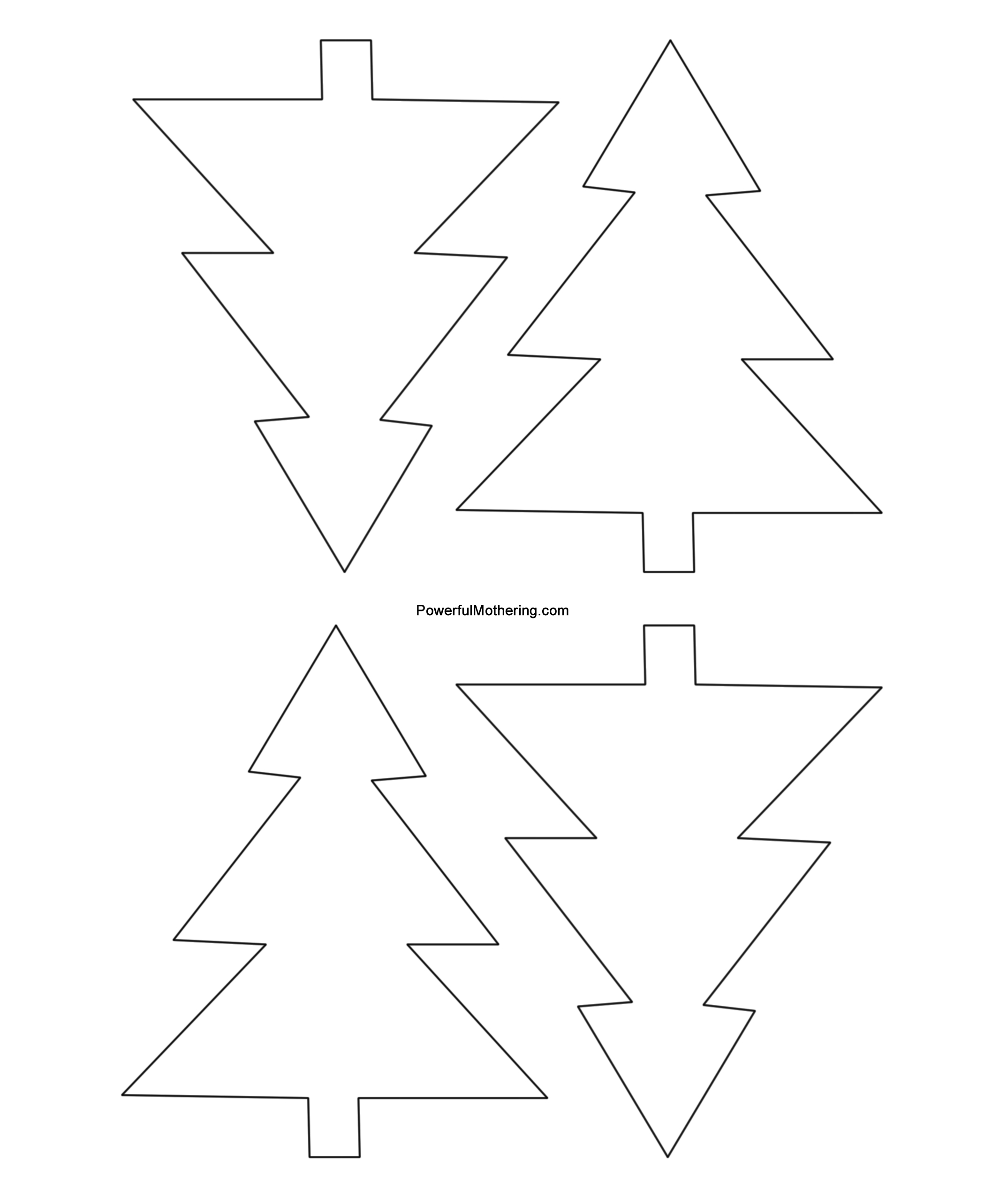 Free Stencil Of A Tree Outline Download Free Clip Art