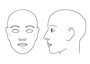 kbbeauty: Blank Face Chart Temples (Male and Female)