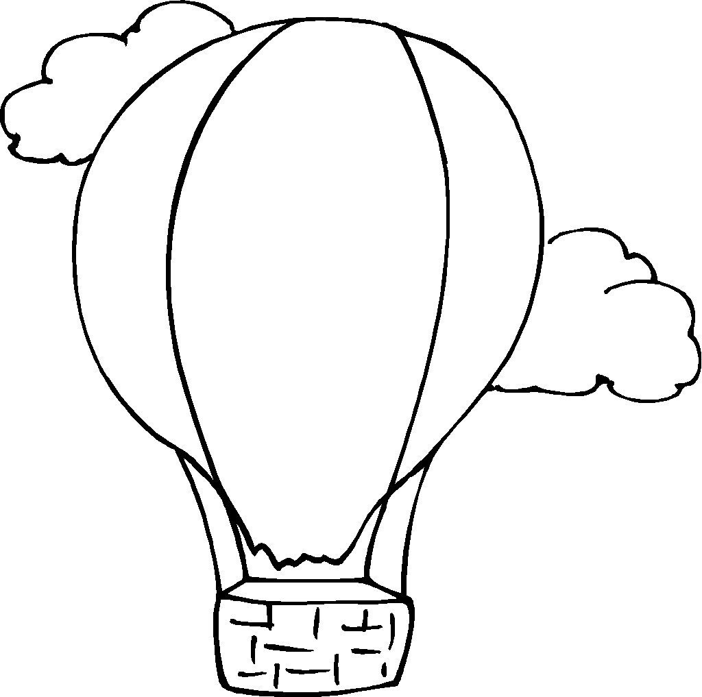Free Hot Air Balloon Outline Download Free Clip Art Free