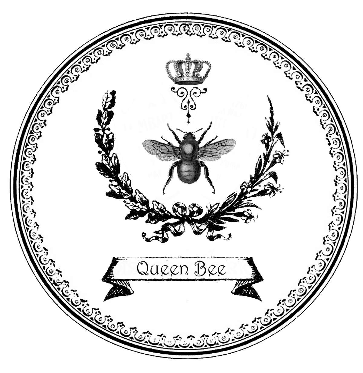 Free Bee With Crown Download Free Clip Art Free Clip Art