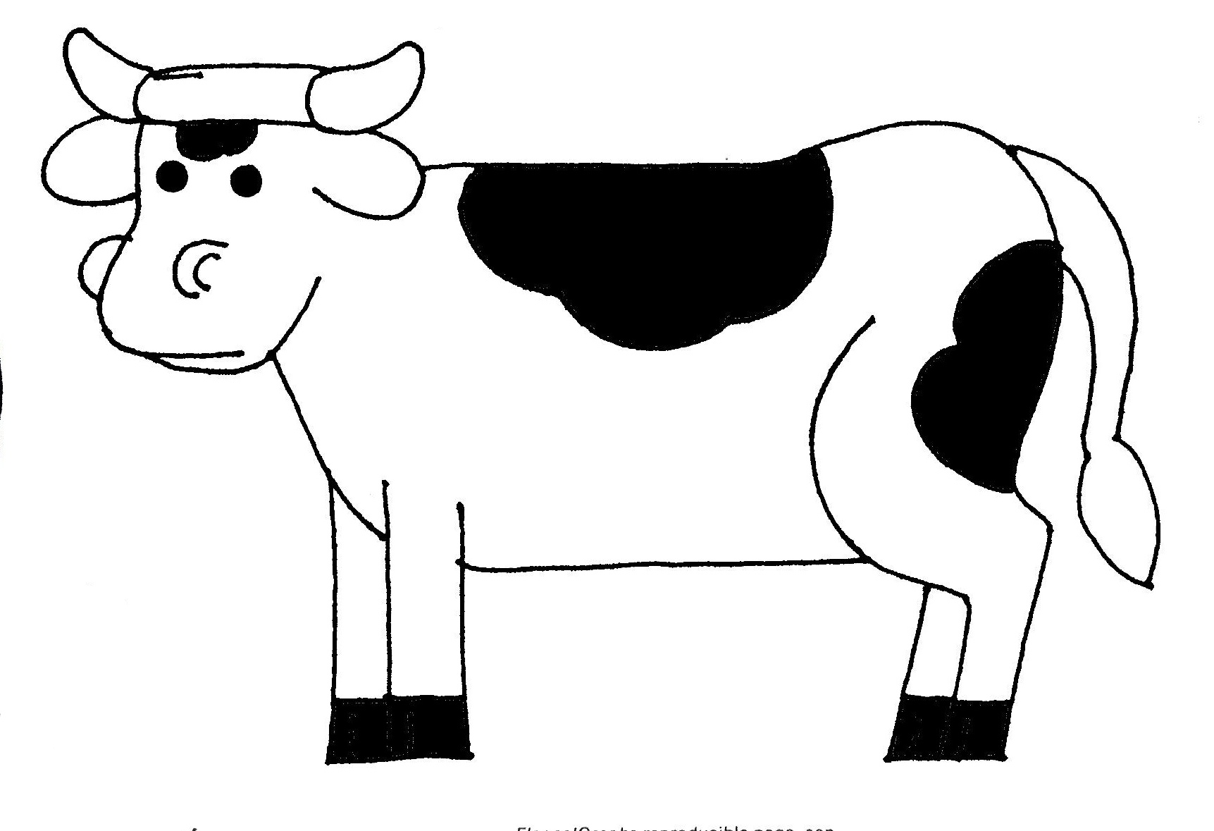 Free Outline Of Cow Download Free Clip Art Free Clip Art
