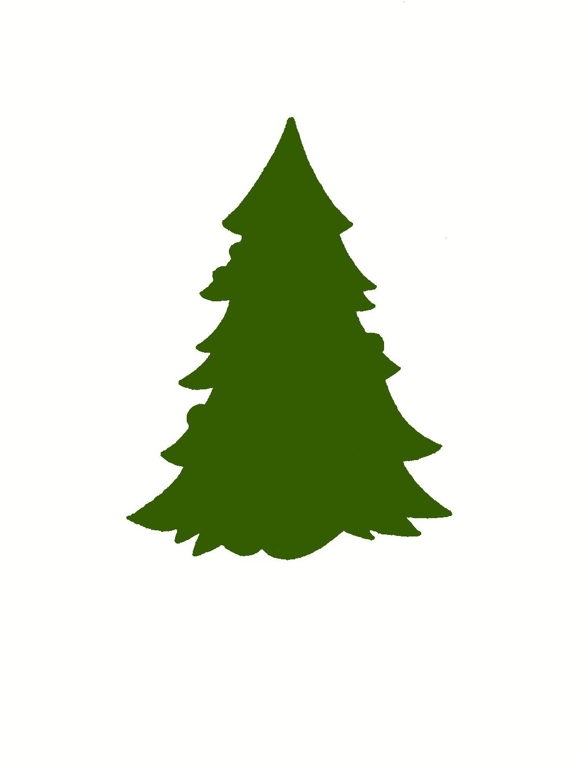 Free Outline Of A Christmas Tree Download Free Clip Art