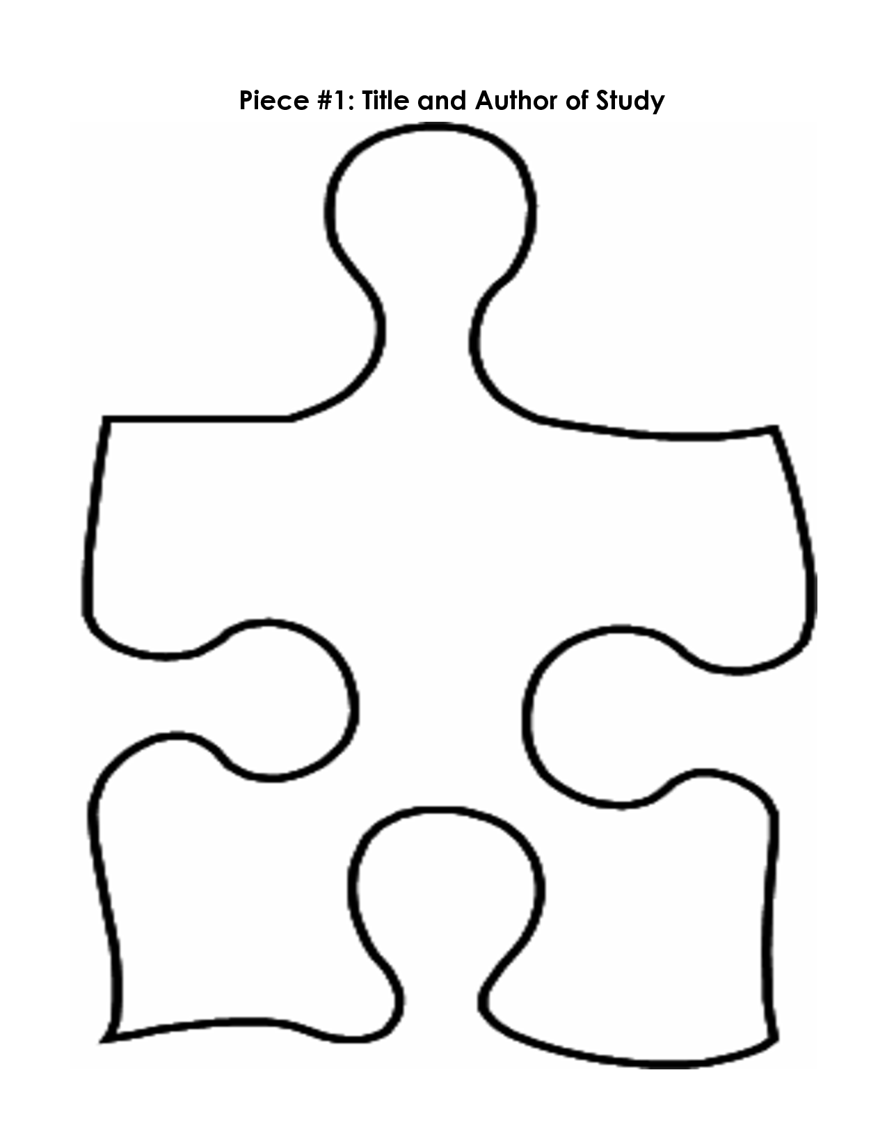 Free Large Puzzle Piece Template Download Free Clip Art