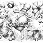 Black And Grey Tattoo Flash Clip Art Library