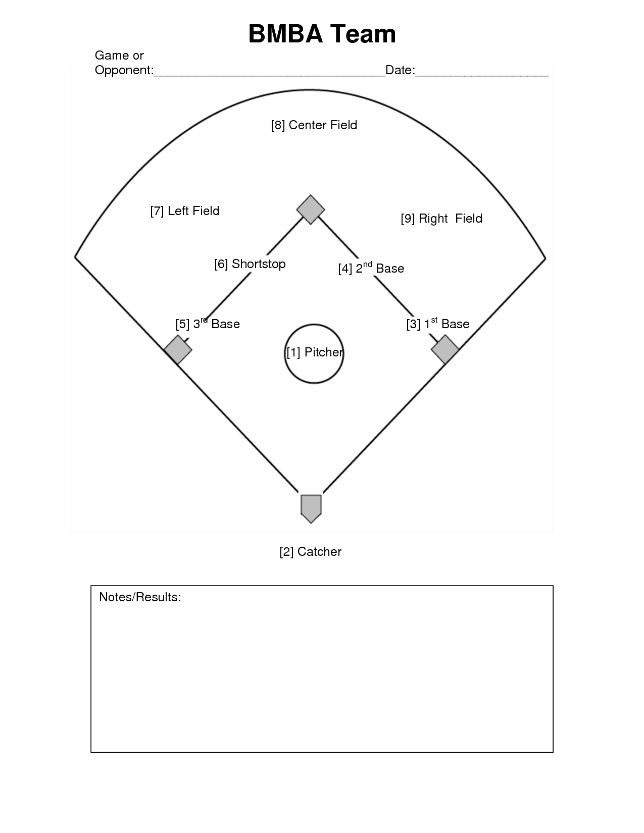 Free Baseball Positions Diagram Download Free Clip Art