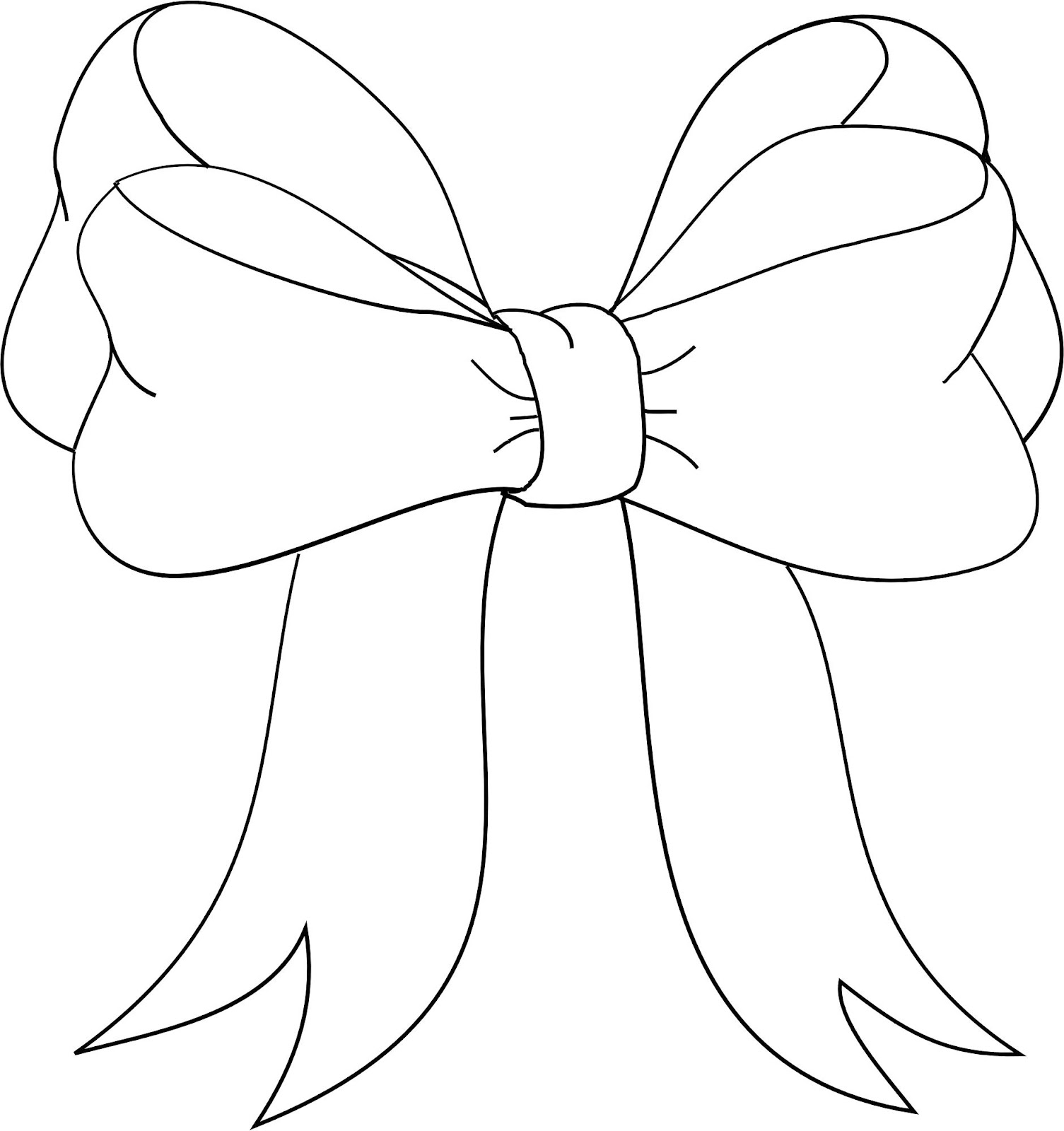 Free Bow Outline Download Free Clip Art Free Clip Art On
