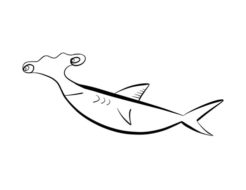 free hammerhead shark cartoon download free clip art