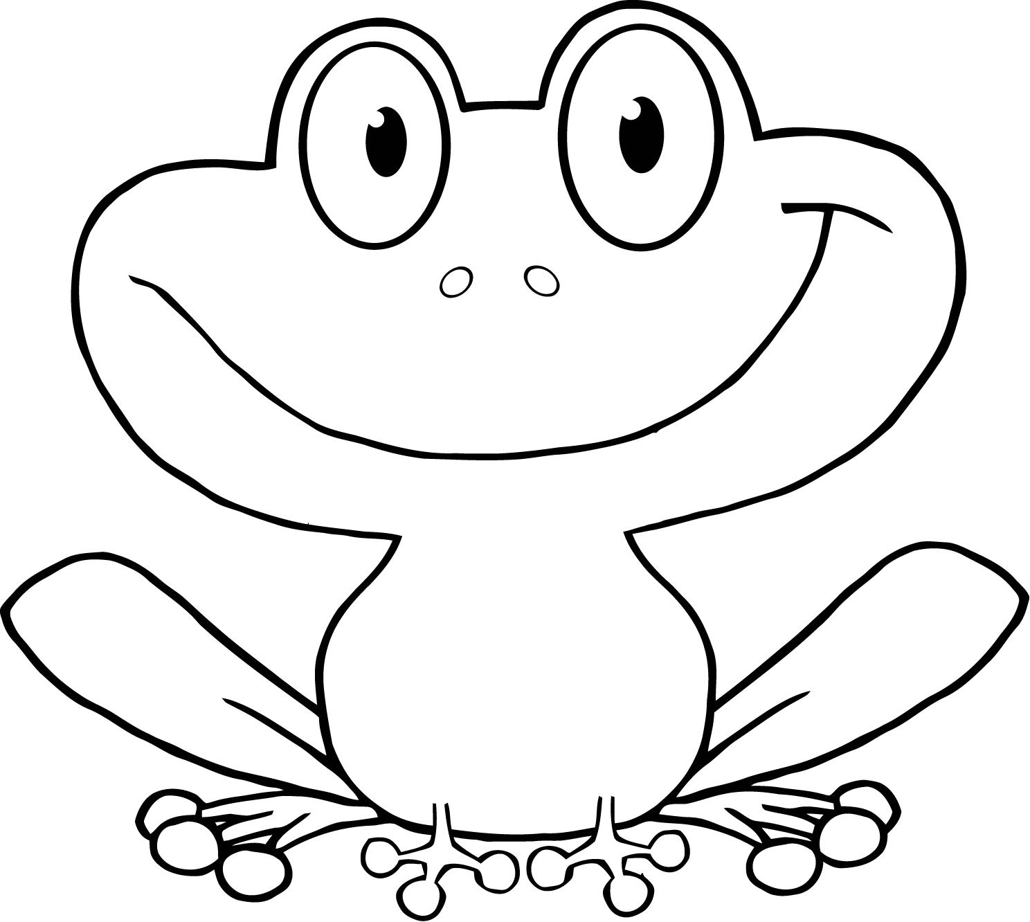 Free Frog Cartoon Outline Download Free Clip Art Free