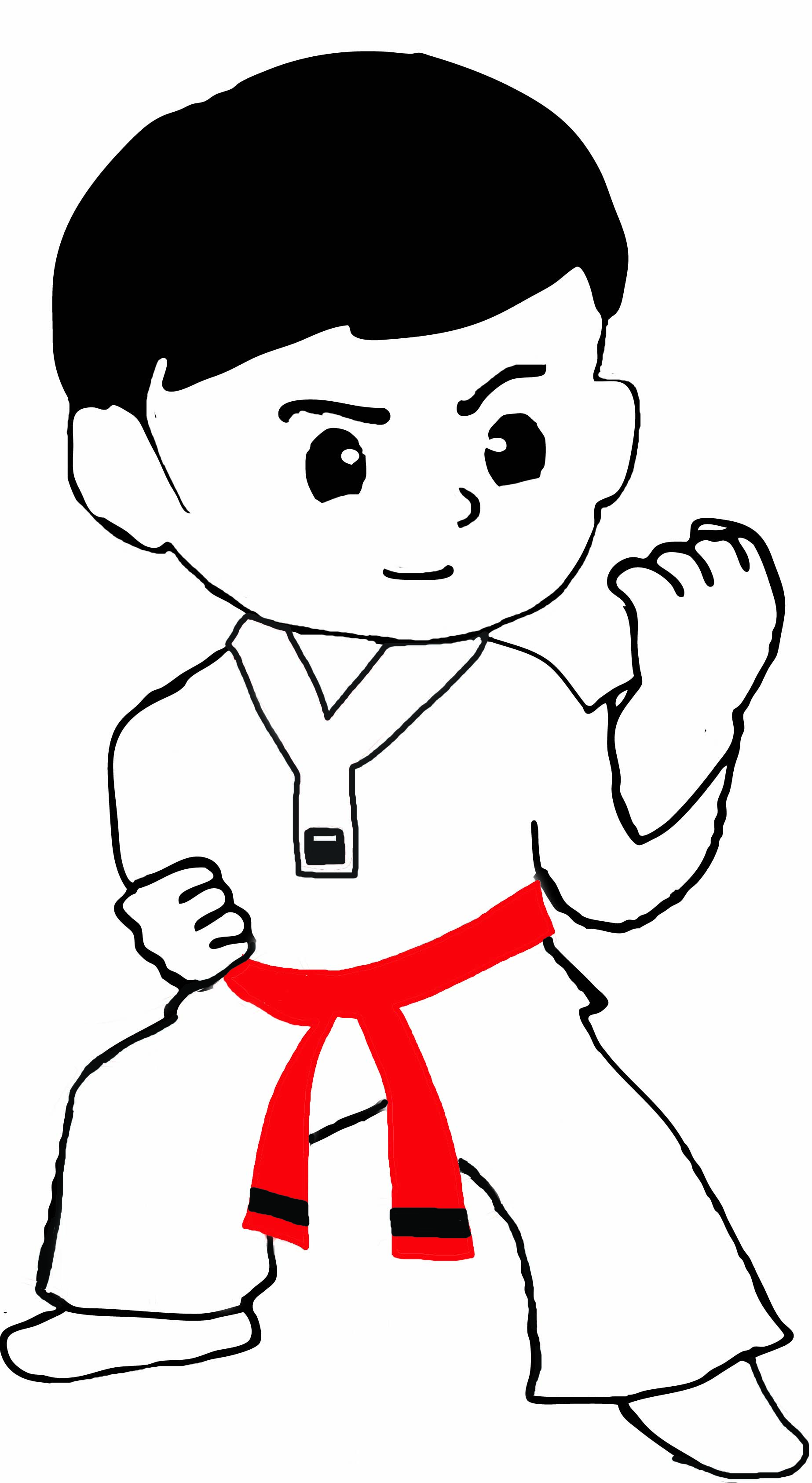Free Tae Kwon Do Master Cartoon Download Free Clip Art
