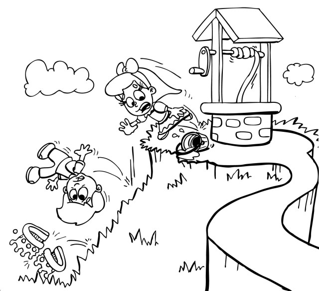 jack and jill colouring pages - Clip Art Library