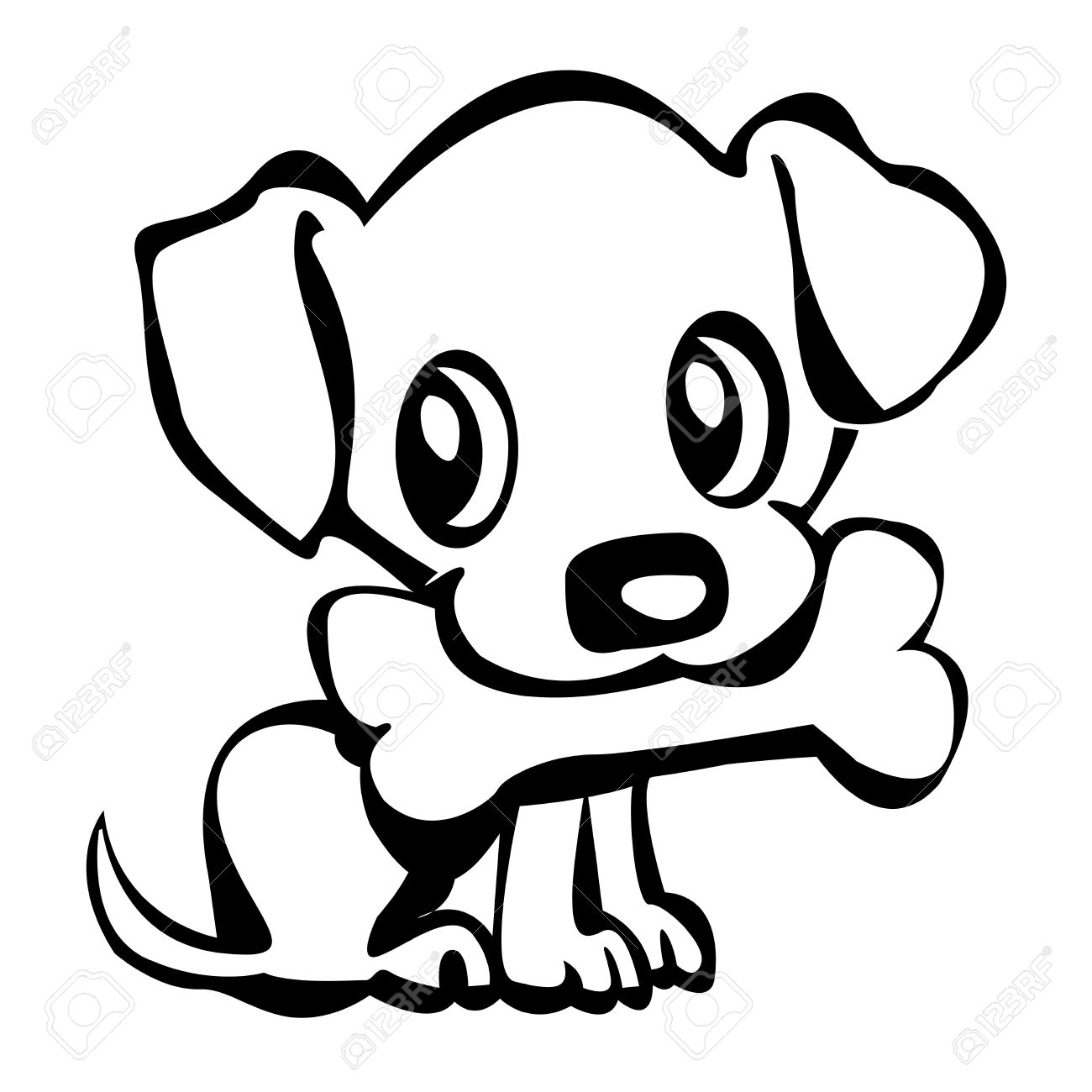 Free Simple Line Drawing Of A Dog Download Free Clip Art
