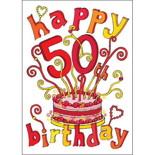 Happy 50th Birthday Images | Free Download Clip Art | Free ... (500 x 500 Pixel)