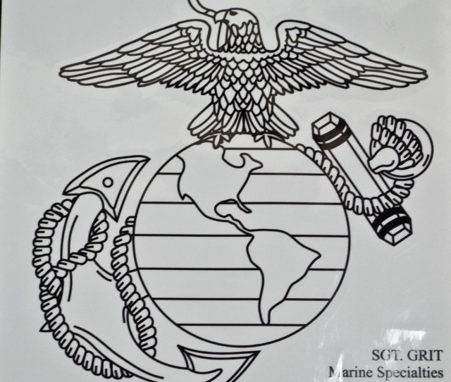 Black Left Eagle Globe And Anchor Decal Sgt Grit Marine