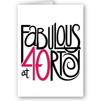 40Th Birthday Pictures Clip Art